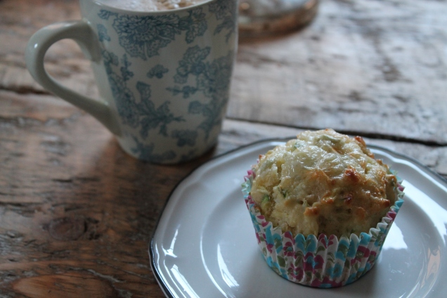 Courgette and Blue Cheese Muffins