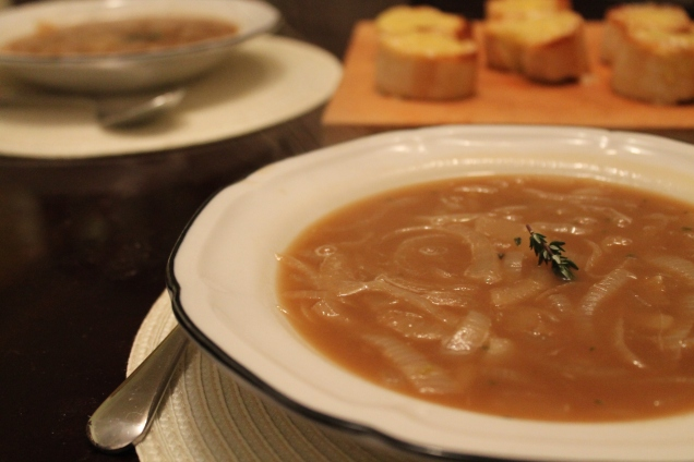 English Onion Soup with Comte Croutons (2)