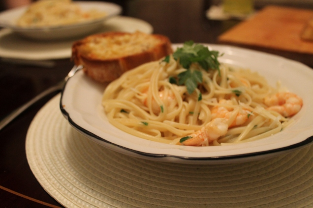 Garlic Prawn Linguine (1)