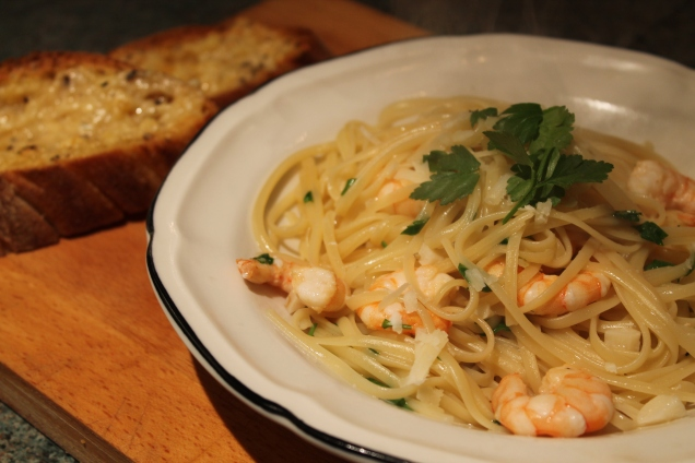 Garlic Prawn Linguine (2)