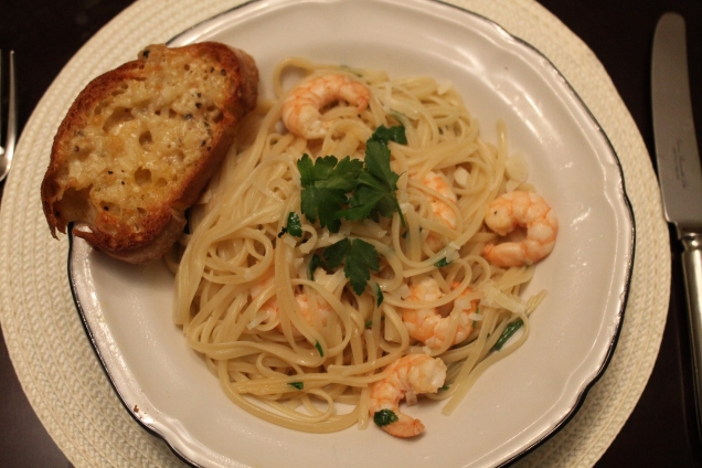 Garlic Prawn Linguine (3)