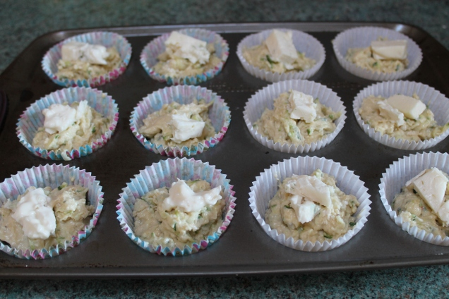 Savoury Courgette and Gorgonzola Muffins (3)