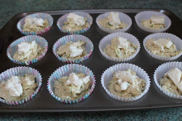 Savoury Courgette and Gorgonzola Muffins (3)