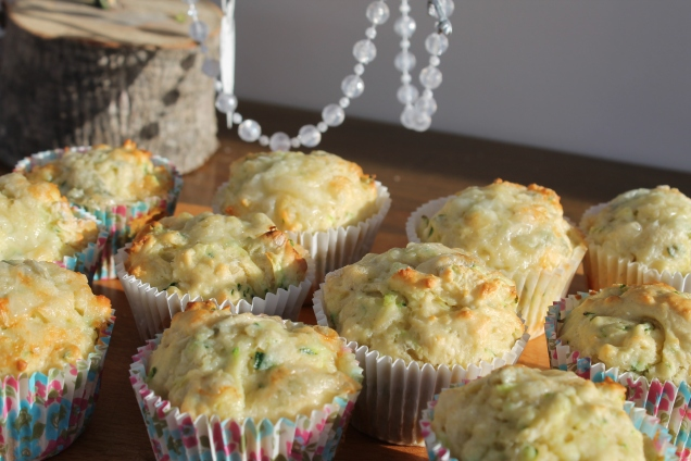 Savoury Courgette and Gorgonzola Muffins