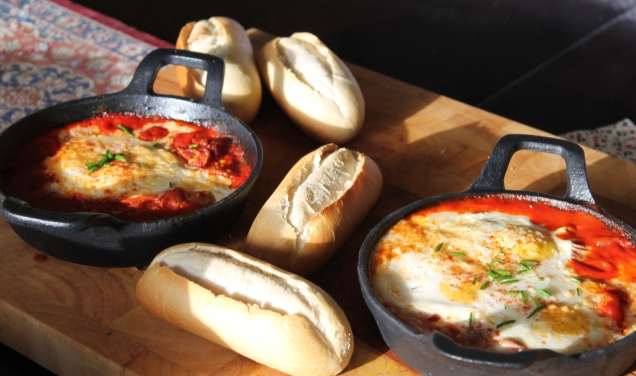 Smoked Paprka Baked Eggs.