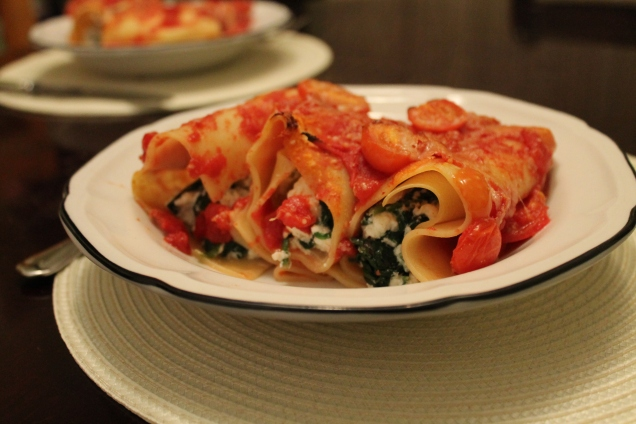 Spinach and Ricotta Cannelloni (1)