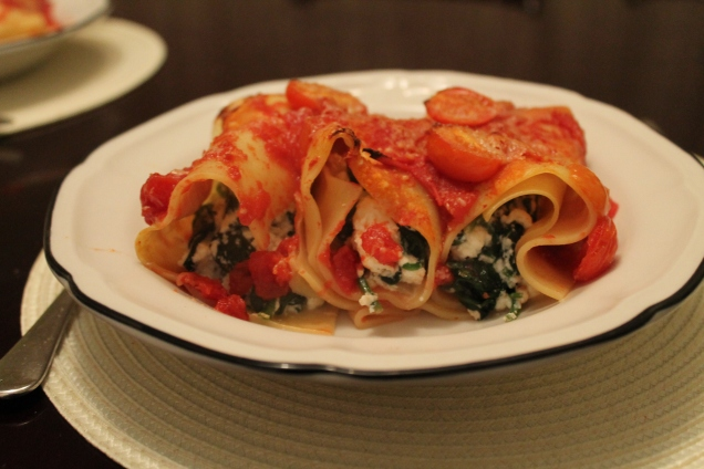 Spinach and Ricotta Cannelloni (3)