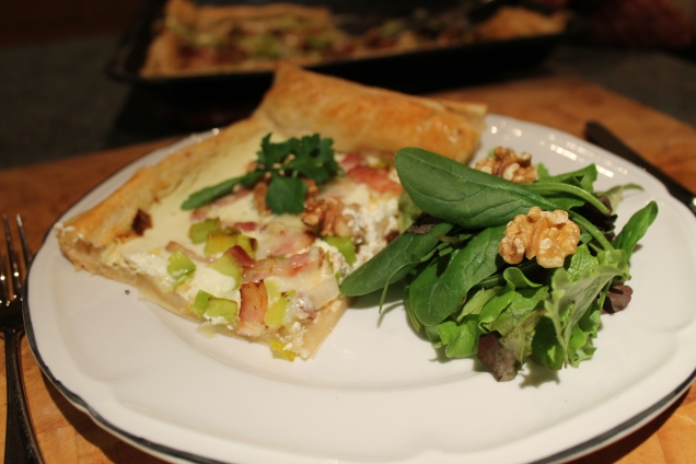 Bacon, Leek and Walnut Tart (1)