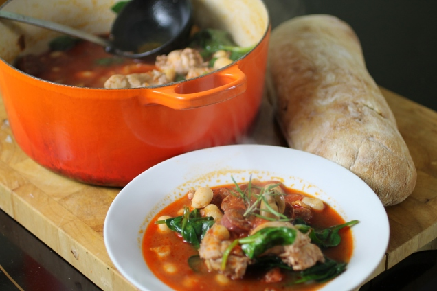 Chicken, Chorizo and Butter Bean Stew (2)