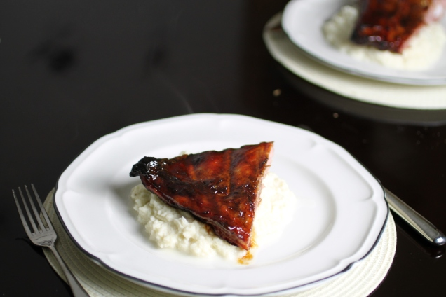 Sticky Ribs with Cauliflower Mash (1)