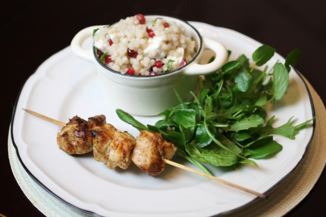 Chicken Skewers with Giant Cous Cous (1)