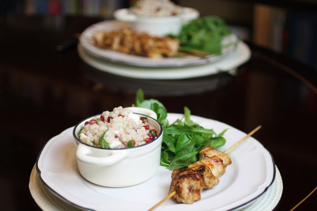 Chicken Skewers with Giant Cous Cous (2)