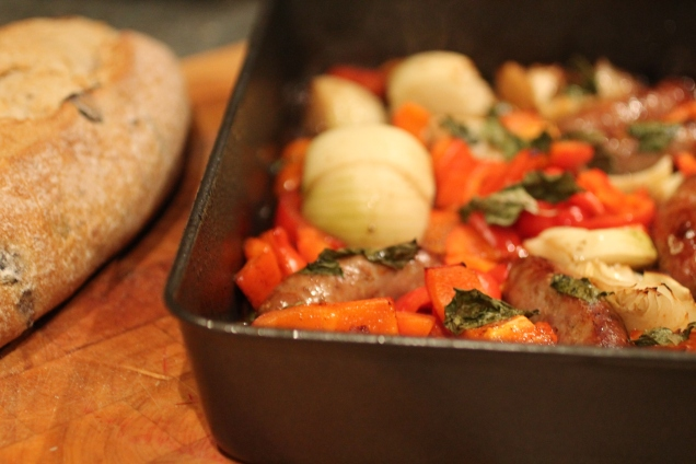 One Pan Balsamic Sausage and Peppers (2)