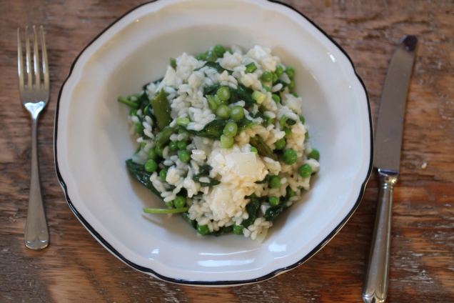 Spring Vegetable Risotto with Feta (1)
